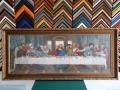 Гоблен  в барокова рамка-Тайната вечеря