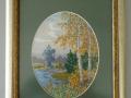 гоблен  в барокова рамка, с овално паспарту