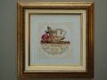 гоблен  в барокова рамка- чаша