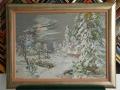 гоблен в барокова рамка -Зимна нощ