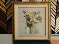 гоблен в барокова рамка - полски цветя