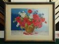 гоблен в барокова рамка - цветя