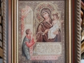 Гоблен  с Богородица в барокова рамка.