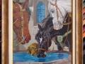 гоблен в барокова рамка - Коне на водопой