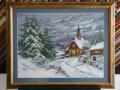 гоблен в класическа рамка - Горски параклис в снега