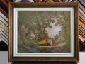 гоблен в класическа рамка-Пътят към Емаус