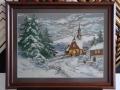 гоблен  в барокова рамка -Параклис в снега