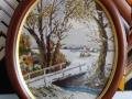 гоблен  в барокова рамка -Зимно настроение