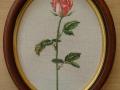 гоблен  в овална рамка - роза