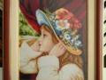 гоблен  в барокова рамка-Момичето с шапката