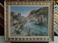 гоблен  в класическа барокова рамка с паспарту