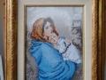 гоблен  в барокова рамка с паспарту