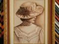 гоблен в барокова рамка-Момичето със шапката