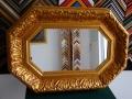 Огледало с пищна осмоъгълна барокова рамка 53/83см.